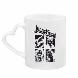 Кружка з ручкою у вигляді серця Judas Priest