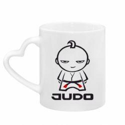 Кружка з ручкою у вигляді серця Judo Fighter