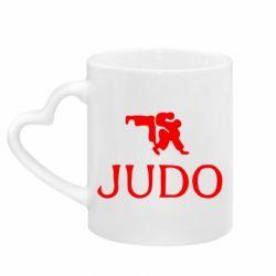 Кружка с ручкой в виде сердца Judo