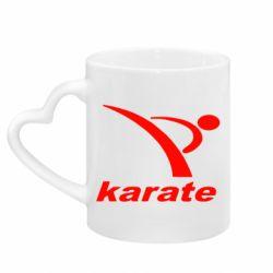 Кружка с ручкой в виде сердца Karate