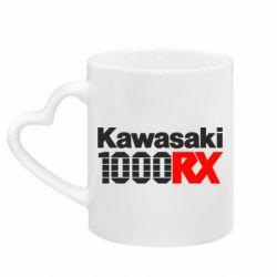 Кружка з ручкою у вигляді серця Kawasaki 1000RX