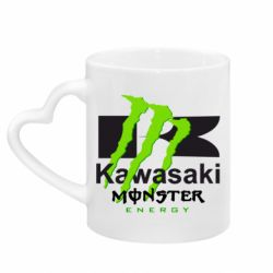 Кружка з ручкою у вигляді серця Kawasaki Monster Energy