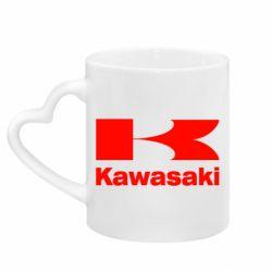 Кружка с ручкой в виде сердца Kawasaki