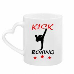 Кружка з ручкою у вигляді серця Kickboxing Fight