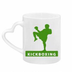 Кружка с ручкой в виде сердца Kickboxing Fighter