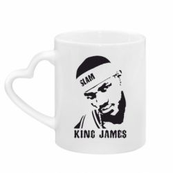 Кружка с ручкой в виде сердца King James