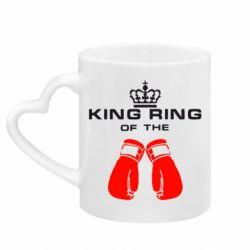 Кружка з ручкою у вигляді серця King Ring