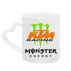 Кружка с ручкой в виде сердца KTM Monster Enegry