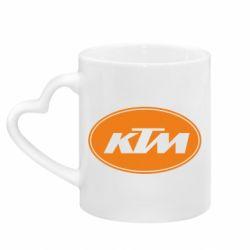 Кружка з ручкою у вигляді серця KTM