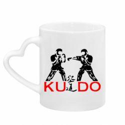 Кружка с ручкой в виде сердца Kudo Fight
