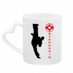Кружка с ручкой в виде сердца Kyokushin Kick