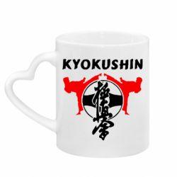 Кружка с ручкой в виде сердца Kyokushin
