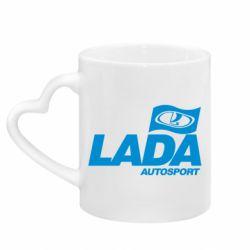 Кружка с ручкой в виде сердца Lada Autosport