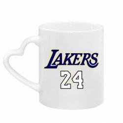 Кружка с ручкой в виде сердца Lakers 24