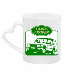 Кружка з ручкою у вигляді серця Land Rover