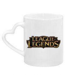 Кружка с ручкой в виде сердца League of legends logo