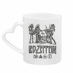 Кружка с ручкой в виде сердца Led-Zeppelin Art