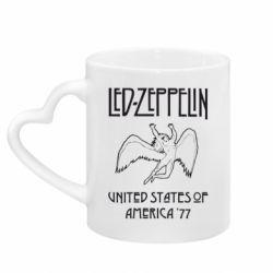 Кружка с ручкой в виде сердца Led Zeppelin United States of America 77