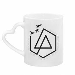 Кружка з ручкою у вигляді серця Linkin park Until It's Gone