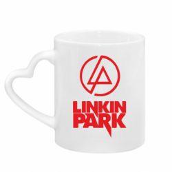 Кружка з ручкою у вигляді серця Linkin Park