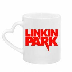 Кружка з ручкою у вигляді серця Лінкін Парк