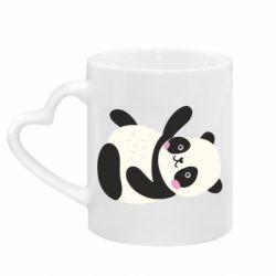 Кружка с ручкой в виде сердца Little panda