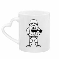 Кружка з ручкою у вигляді серця Little Stormtrooper