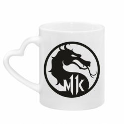 Кружка с ручкой в виде сердца Logo Mortal Kombat 11