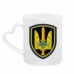 Кружка с ручкой в виде сердца Логотип Азов
