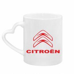 Кружка з ручкою у вигляді серця Логотип Citroen