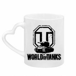 Кружка з ручкою у вигляді серця Логотип World Of Tanks