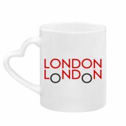 Кружка з ручкою у вигляді серця London