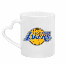 Кружка з ручкою у вигляді серця Los Angeles Lakers