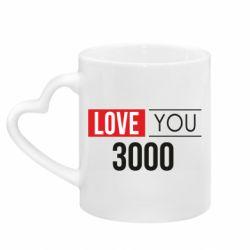 Кружка с ручкой в виде сердца Love 300