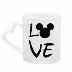Кружка з ручкою у вигляді серця Love Mickey Mouse (male)