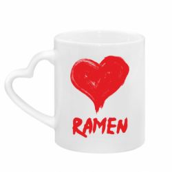 Кружка з ручкою у вигляді серця Love ramen