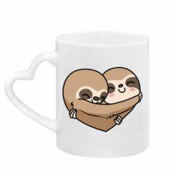 Кружка з ручкою у вигляді серця Love sloths