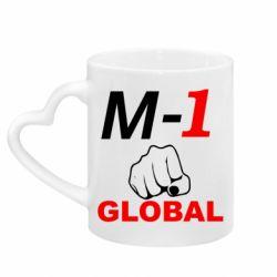Кружка с ручкой в виде сердца M-1 Global