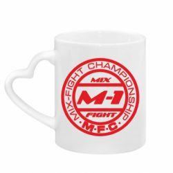 Кружка з ручкою у вигляді серця M-1 Logo