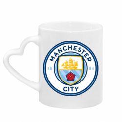 Кружка з ручкою у вигляді серця Manchester City