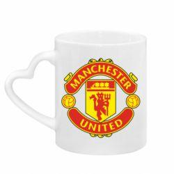 Кружка з ручкою у вигляді серця Манчестер Юнайтед