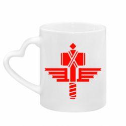 Кружка з ручкою у вигляді серця Manowar Logo