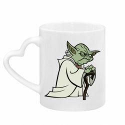 Кружка с ручкой в виде сердца Master Yoda