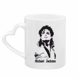 Кружка с ручкой в виде сердца Майкл Джексон