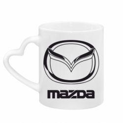 Кружка з ручкою у вигляді серця Mazda Logo