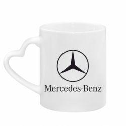 Кружка с ручкой в виде сердца Mercedes Benz