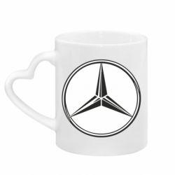 Кружка з ручкою у вигляді серця Mercedes