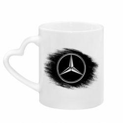 Кружка с ручкой в виде сердца Мерседес арт, Mercedes art