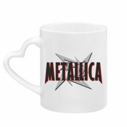 Кружка з ручкою у вигляді серця Логотип Metallica