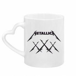Кружка з ручкою у вигляді серця Metallica XXX